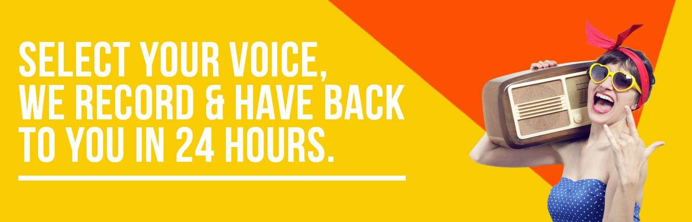 Radio Commercials | Voice Overs | Back in 24 hours